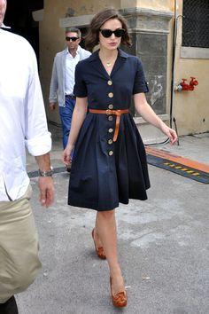 Keira Knightley Day Dress - Keira Knightley Looks - StyleBistro