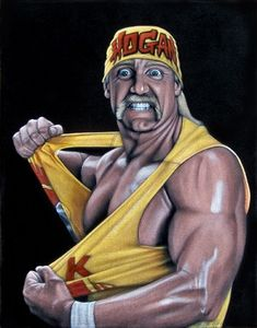 Velvet portraits of wrestling greats by artist Bruce White: Hulk Hogan Wrestling Posters, Wrestling Wwe, Funny Caricatures, Celebrity Caricatures, Wwe Hulk Hogan, Wrestling Superstars, Marilyn Monroe Photos, Wwe Wrestlers, Professional Wrestling