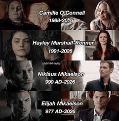 Camille, Hayley, Klaus and Elijah Vampire Diaries Stefan, Vampire Diaries The Originals, Serie The Vampire Diaries, Vampire Diaries Quotes, The Originals Camille, Klaus The Originals, Ian Somerhalder, Damon E Stefan, Frases Tvd