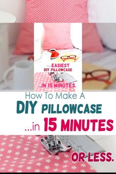 Excellent Free Sewing for beginners videos Ideas How to make a pillowcase - so easy it's ridiculous! This super-easy pillow cover sewing project wi Sewing Pillow Cases, Diy Pillow Covers, Sewing Pillows, Diy Pillows, Fabric Sewing, Cushion Covers, Decorative Pillows, Sewing Machine Projects, Sewing Projects For Beginners