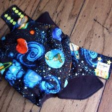 Space Butt One Size Pocket Cloth Diaper by Honeybuns