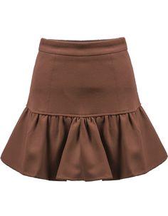 Khaki High Waist Flare Skirt 20.83