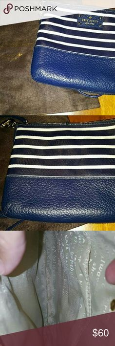 Kate Spade Navy and Cream Grove Court Tenley bag Never used,  includes cover kate spade Bags Crossbody Bags