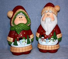 Old Fashion Santa and Mrs Claus set hand by FlutterbyConnections, $90.00