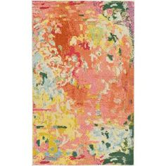 Shop for Unique Loom Michelle Armas Laura Pink Polypropylene Area Rug (3'2 x 5'2). Get free shipping at Overstock.com - Your Online Home Decor Outlet Store! Get 5% in rewards with Club O!