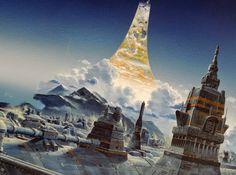 son of Hidalgo Schwartz Fantasy Illustration, Digital Illustration, Space Empires, 70s Sci Fi Art, Sci Fi Models, Science Fiction Art, Future City, Sci Fi Fantasy, Landscape Photos
