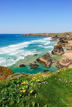 Most popular destinations - Bedruthan Steps - England.