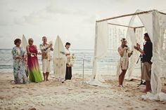 Looooove!!! Feather and beach wedding  | Bohemian Wedding in Bali by Jonas Peterson - Swoon