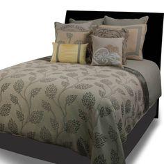 Hallmart Collectibles De La Ville (Michael Grey Linen Set) Comforter Set