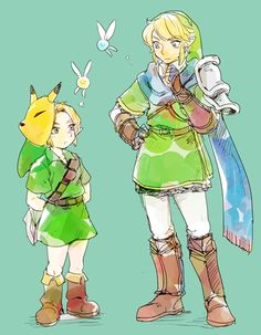 The Legend of Zelda: Ocarina of Time, The Legend of Zelda: Majora's Mask, and Hyrule Warriors / Young Link, Link, Navi, and Tatl / 「らくがきゼルダ」/「YM」のイラスト [pixiv] [11]