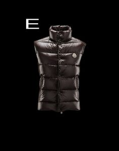 Moncler Tib Men Snap Button Zip Fly Closure Down Vest Coffee Free Shipping