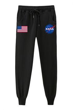 Loose Pants, Cropped Pants, Denim Pants, Sporty Outfits, Cool Outfits, Fashion Outfits, Fashion Pants, Nasa Jacket, Nasa Clothes