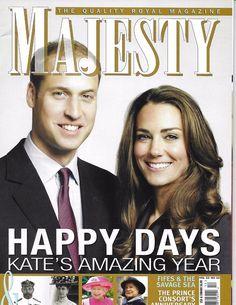 Majesty magazine Kate Middleton Prince William Queen Elizabeth Consorts