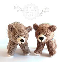 L'Ós Bru. Crochet Animal by BruDiy. #crochet #bear #kids #amigurumi #toy #animal #DIY