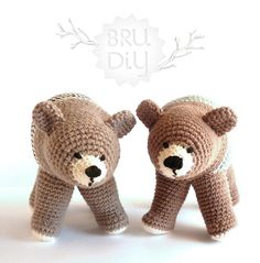 Ós Bru. Handmade eco-cotton crochet animal by Bru·Diy #crochet #bear #cotton #eco #toy