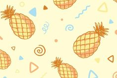 Download Three fashionable patterns with pineapples Graphics by wowomnom…