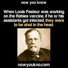 ﴾͡๏̯͡๏﴿ Its a Fact Louis Pasteur Wtf Fun Facts, Crazy Facts, Random Facts, Random Stuff, Interesting Information, Interesting Facts, The More You Know, Good To Know, Snapple Facts