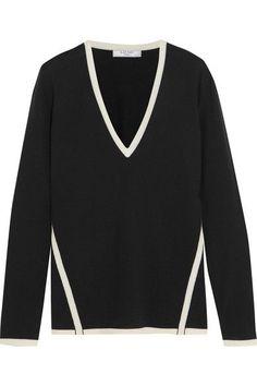 LANVIN Two-tone wool sweater. #lanvin #cloth #knitwear