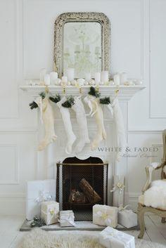 White Christmas Good Morning Christmas, Cosy Christmas, Christmas Mantles, Christmas Fireplace, Shabby Chic Christmas, Victorian Christmas, Little Christmas, Christmas 2016, Christmas Colors