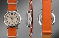 Shinola Runwell Orange Watch, Remodelista
