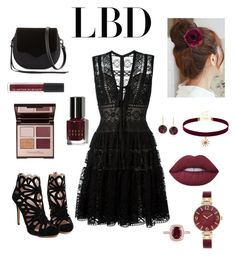 """""""little black dress  #lbd #littleblackdress"""" by tai-lee-1 ❤ liked on Polyvore featuring Elie Saab, Rebecca Minkoff, Lime Crime, Bobbi Brown Cosmetics, Charlotte Tilbury, Pin Show, Accessorize, Effy Jewelry, Anne Klein and Ross-Simons"""