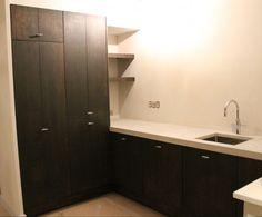 Meer dan 1000 idee n over keuken bijkeuken kasten op pinterest pantry kasten keukenkasten en - Idee deco keuken wit ...