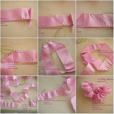 МК розового цветка