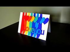 Greeting card (sweethearts) for valentine's day, birthday, anniversary - EzyCraft - YouTube