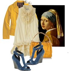 I guess I'm going to have to start taking my art history books with me when I clothes shop!  I love Vermeer!