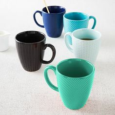 Textured Mugs #westelm