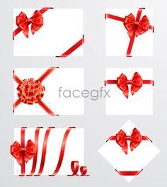 Ribbon bow 05 Vector