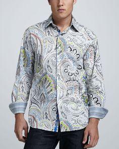 pics of paisley shirts | Robert Graham Paisley Sport Shirt in Multicolor for Men (multi) - Lyst