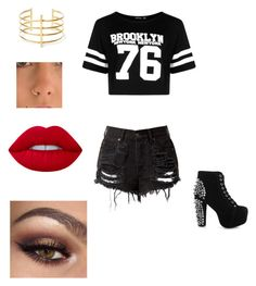"""""""Untitled #89"""" by michael24-i ❤ liked on Polyvore featuring Boohoo, Jeffrey Campbell, BauXo and Lime Crime"""
