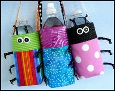 Water Bottle Covers-have to make a pattern for this myself :)
