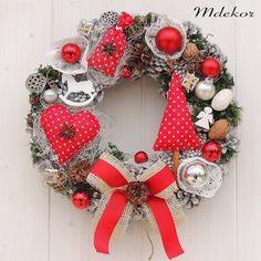 Dekorácie - Šiškový vianočný veniec - 8670687_