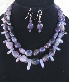 Double strand Amethyst Necklace with by LolasCustomJewelry on Etsy, $79.00