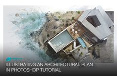 Illustrating an Architectural Plan in Photoshop - Narrated Full Tutorial...