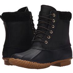 Skechers Black Women's Duck Snow Boot Black skechers women duck snow boot. Brand new condition. Comfortable. Runs large. Skechers Shoes Winter & Rain Boots