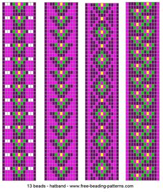 beading loom patterns - Google Search