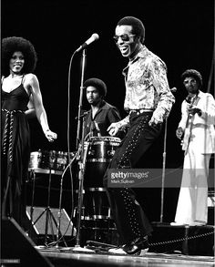 Sly Stone with Sly and the Family Stone during taping of The Midnight Special at NBC studios Burbank, CA 1976; Various Locations; Mark Sullivan 70's Rock Archive; Burbank; CA.