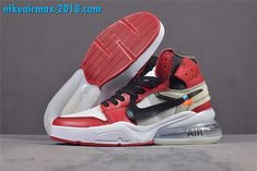 newest 0e813 f99be Off-White x Nike Air Force 270 AA3834-101 Red White Mens Shoes