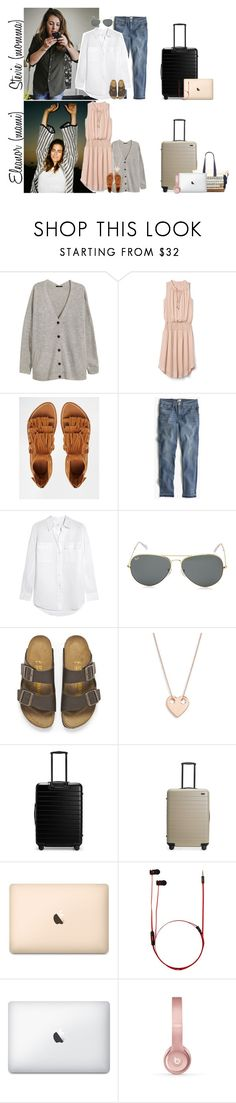 """""""Monday // Happy Memorial Day! // 5.29.17"""" by graywolf145 ❤ liked on Polyvore featuring H&M, Gap, MANGO, J.Crew, Equipment, Ray-Ban, Birkenstock, Ginette NY, Beats by Dr. Dre and StevieandEleanor"""
