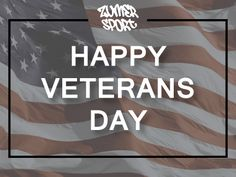 Happy Veterans Day! Thank you to everyone who has served our country! #VeteransDay