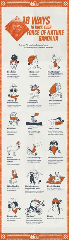 18 Ways to Rock Your Force of Nature Bandana.