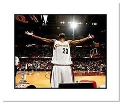LeBron James Cleveland Cavaliers NBA Double Matted 8x10 Photograph Pre-Game Rit #ClevelandCavaliers