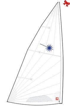 North MK2 Laser Sail Folded Race Main White  FMGiftGuides16 Marine Gear a357b34b5088
