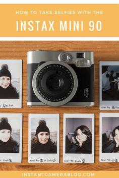 How to take selfies with the Fujifilm Instax Mini 90 instant film camera. #instax #instaxmini #mini90 #selfie #selfies