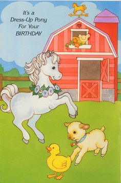 IT'S A DRESS UP PONY FOR YOUR BIRTHDAY 1 of  2