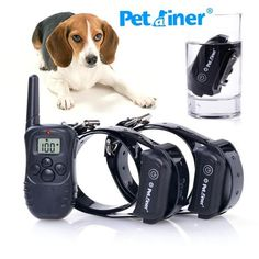 Pet Dog Training Collar Rechargeable Electric LCD 100LV Shock (Two Collars) - Free Shipping Worldwide
