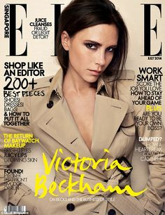 Doing her bit: Speaking in an interview as ELLE Singapore magazine's July 2014 cover star, the 40-year-old beauty admitted she hopes that through her Victoria Beckham clothing line she can help women feel their 'best'
